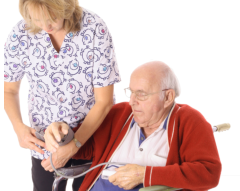 Staff taking blood pressure